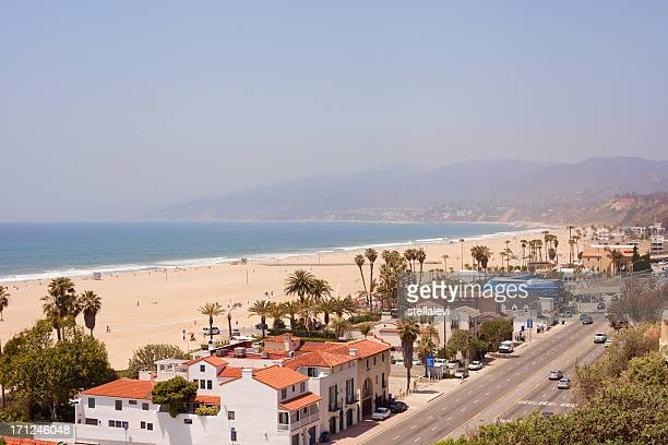 santa monica houses and  pch highway - santa monica stock pictures, royalty-free photos & images
