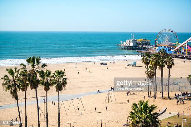 Santa Monica Pier and Muscle Beach, CA, USA