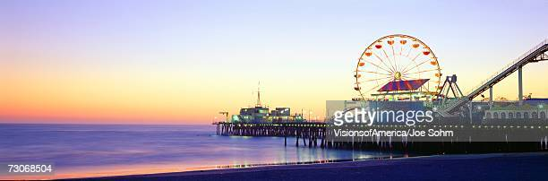 'Santa Monica Pier at sunset, California'