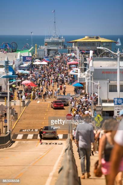 米国カリフォルニア州サンタモニカー桟橋 - サンタモニカ ストックフォトと画像