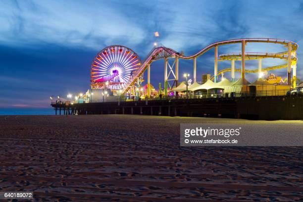Santa Monica Pier Pacific Roller Coaster