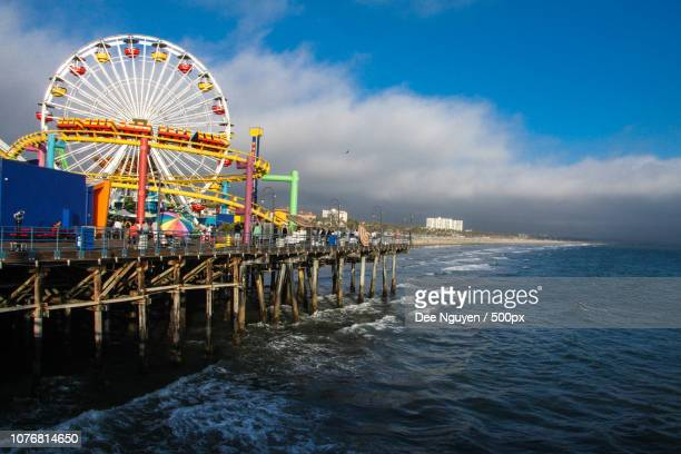 santa monica pier - dee nguyen stock pictures, royalty-free photos & images