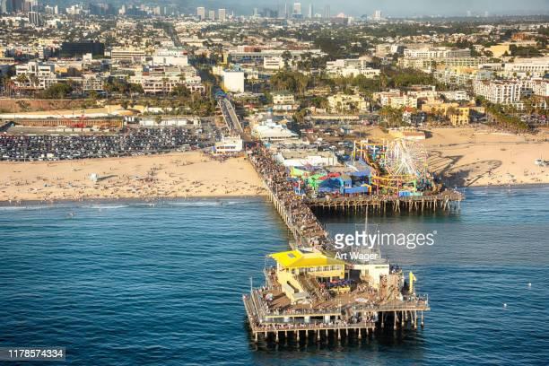 santa monica pier - santa monica pier stock pictures, royalty-free photos & images