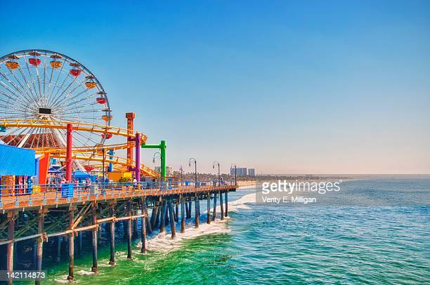 santa monica pier - santa monica stock pictures, royalty-free photos & images