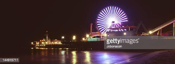 santa monica pier - jcbonassin stock pictures, royalty-free photos & images