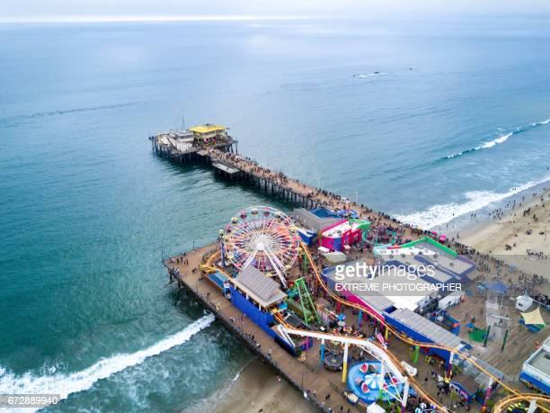 santa monica pier - santa monica stock pictures, royalty-free photos & images