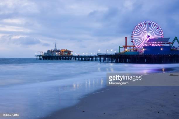 santa monica, the pier - santa monica pier stock pictures, royalty-free photos & images