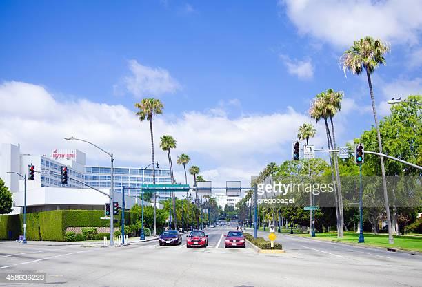 Santa Monica & Wilshire boulevards in Beverly Hills, CA