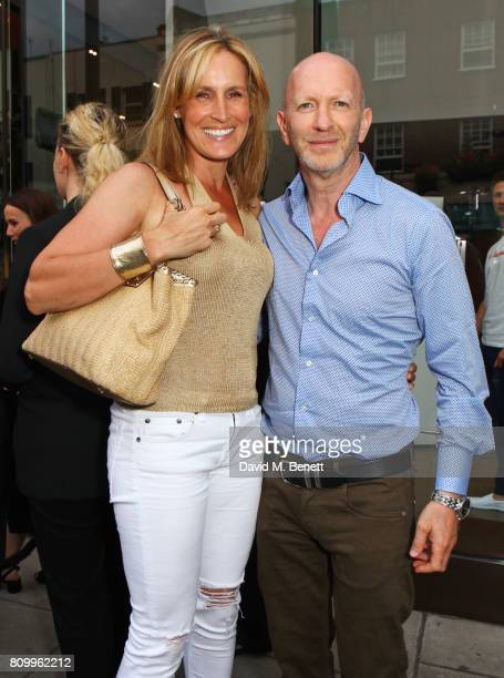 Santa Montefiore and Simon Sebag Montefiore attend Orlebar Brown's 10th anniversary party at BB Italia on July 6 2017 in London England