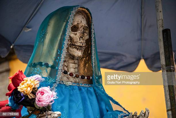 santa muerte in mexico city - cult stock pictures, royalty-free photos & images