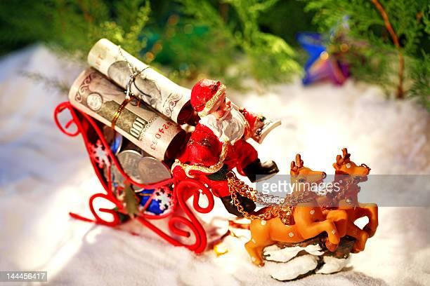 Santa on a sleigh