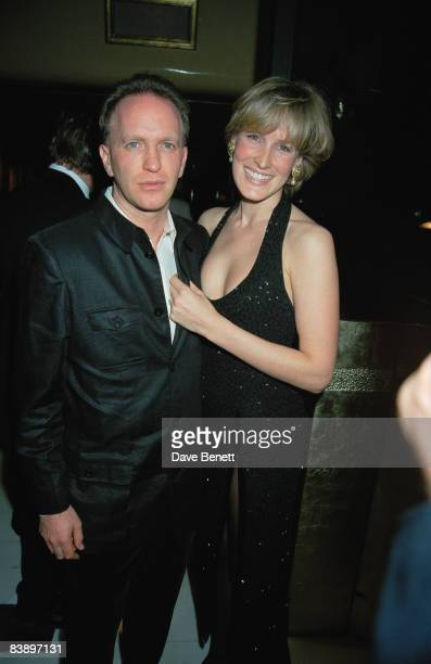 Santa PalmerTomkinson and Simon Sebag Montefiore celebrate their engagement at Mr Chows restaurant in London 8th December 1997