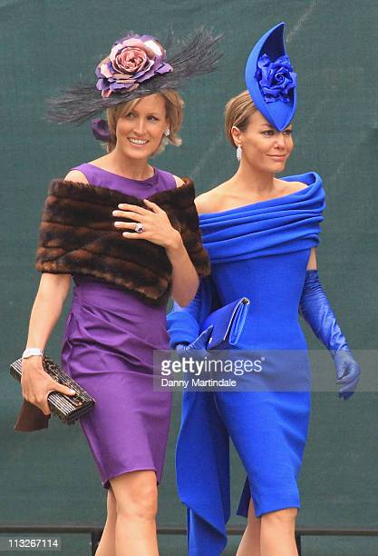 Santa PalmerTomkinson and Tara PalmerTomkinson arrive to attend the Royal Wedding of Prince William to Catherine Middleton at Westminster Abbey on...