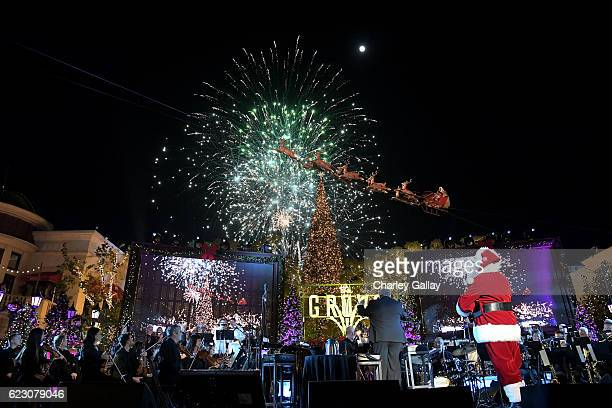 Santa performs at The Grove Christmas with Seth MacFarlane Presented by Citi at The Grove on November 13 2016 in Los Angeles California
