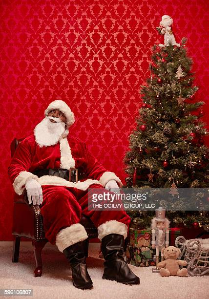 Santa ponders his naughty list.