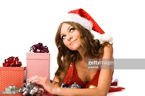 santa-porträt - weihnachtsfrau stock-fotos und bilder
