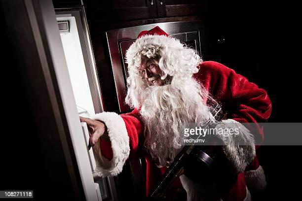 Santa Raiding Refrigerator