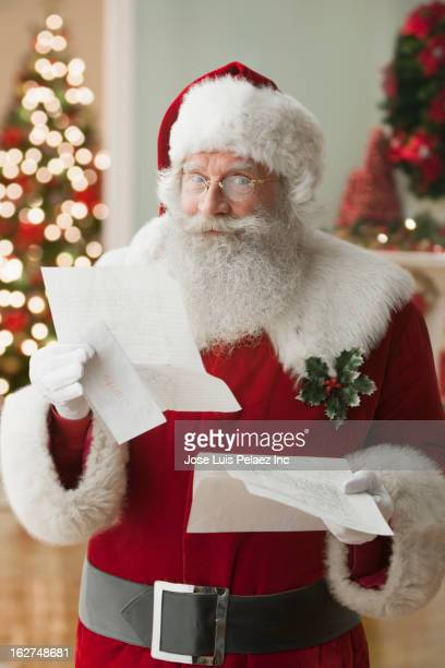 Santa reading letter