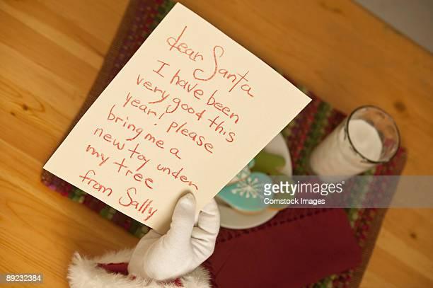 santa reading note