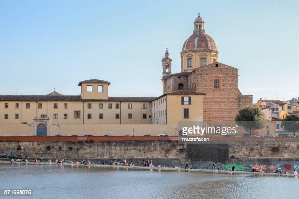 Santa Rosa flood control weir in Florence, Italy