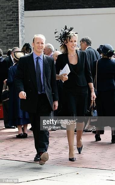 Santa SebagMontefoire and her husband Simon at St Paul's Church in Knightsbridge for a memorial service for Major Bruce Shand on September 11 2006 in...