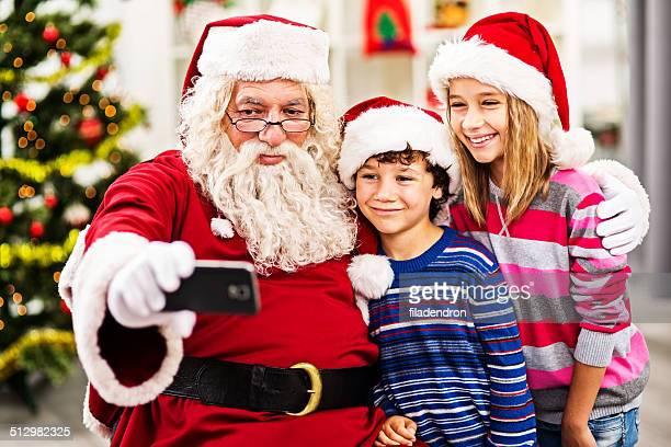 Santa une autophoto