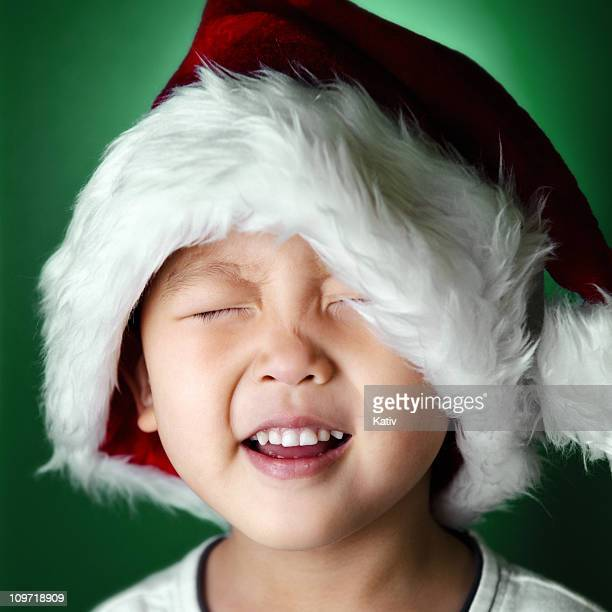 santa spirit - santa face stock pictures, royalty-free photos & images