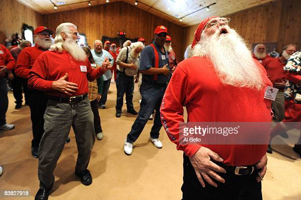 Santa Students practice saying their Ho Ho Hos during the Charles W Howard Santa Claus School workshop on October 16 2008 in Midland Michigan The...