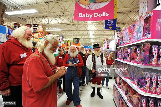 Santa students stop by Toys R US to learn about the popular toys for the Holiday Season during the Charles W. Howard Santa Claus School workshop on...