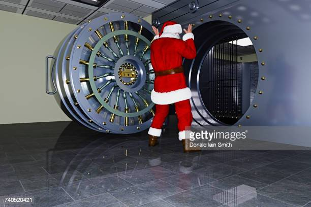 Santa surprised at empty vault
