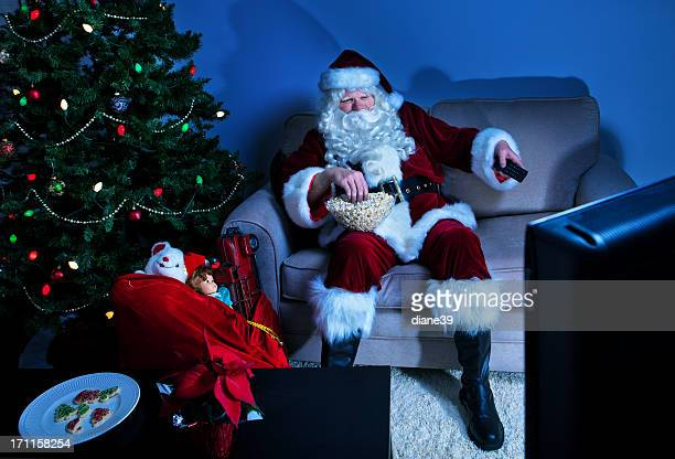 Santa takes a break