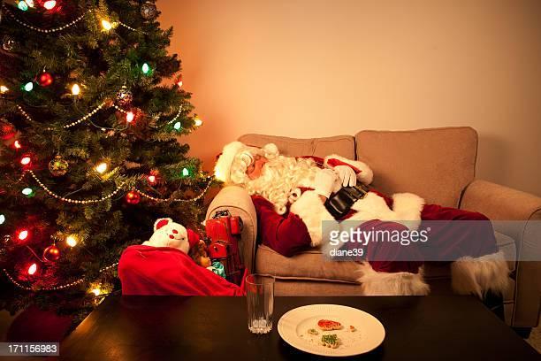 Santa hat ein Nickerchen