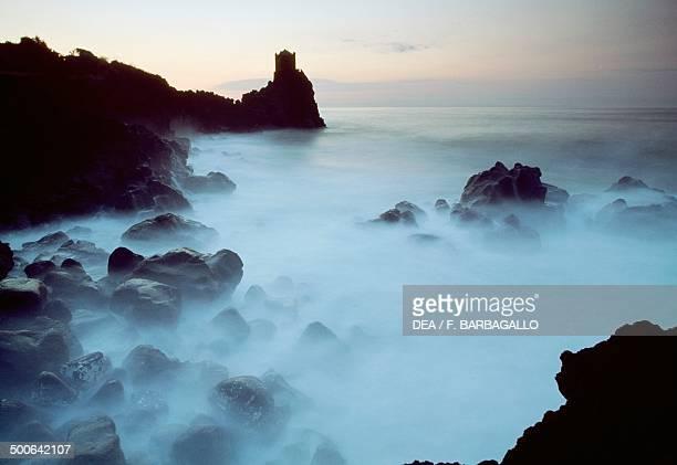 Santa Tecla coastal tower Acireale Sicily Italy