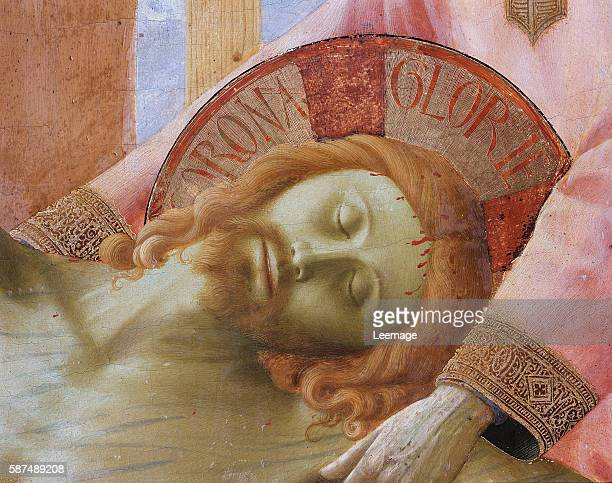 Santa Trinita Altarpiece, detail of the head of the dead Christ, c.1434 - Museo di San Marco dell'Angelico, Florence, Italy