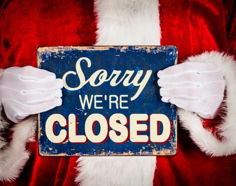 Santa with Closed Sign 174967646