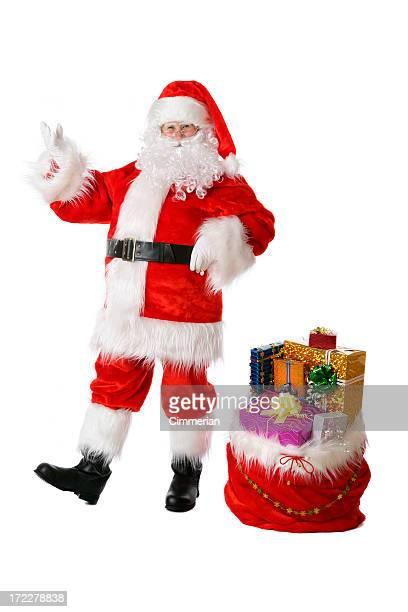 サンタとプレゼントにホワイト