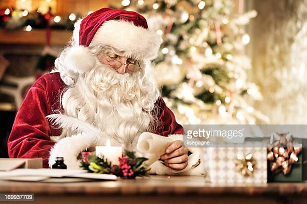 santa writing - santa stock pictures, royalty-free photos & images
