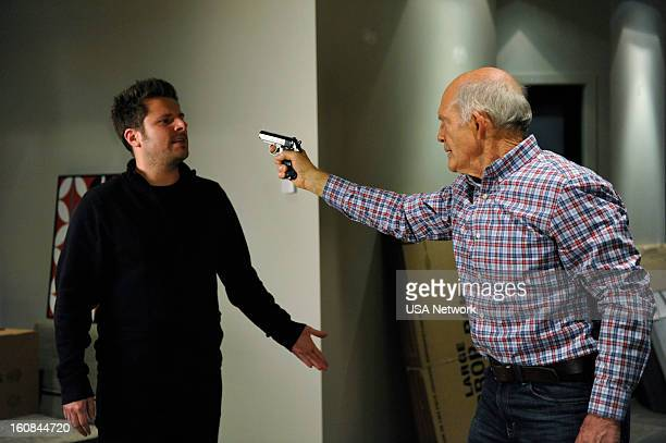 PSYCH Santabarbaratown 2 Episode 701 Pictured James Roday as Shawn Spencer Max Gail as Jerry Carp