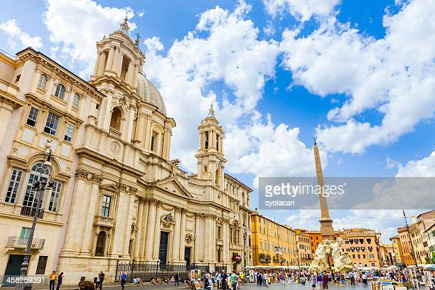 sant'agnese in piazza navona - syolacan stock pictures, royalty-free photos & images