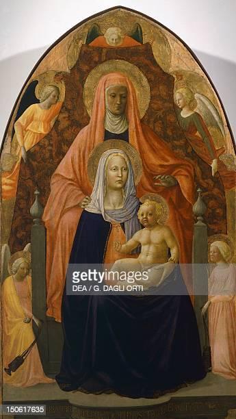 Sant'Ambrogio Altarpiece Madonna and Child with St Anne ca 14241425 by Masaccio and Masolino oil on canvas 175x103 cm