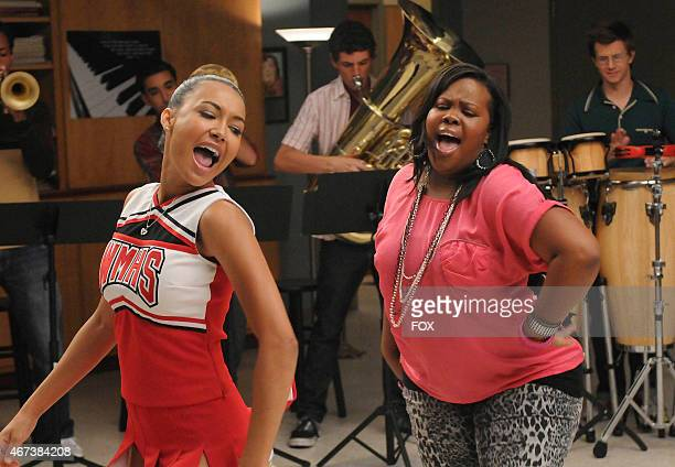 """Santana and Mercedes perform a duet in the """"Duets"""" episode of GLEE airing Tuesday, Oct. 12 on FOX. &"""