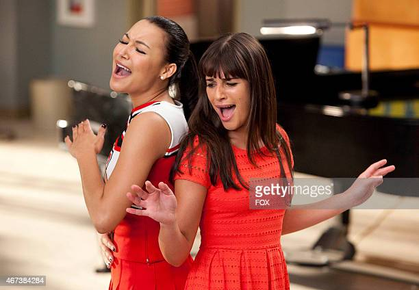 """Santana and Rachel perform in the """"Dance With Somebody"""" episode of GLEE airing Tuesday, April 24 on FOX."""