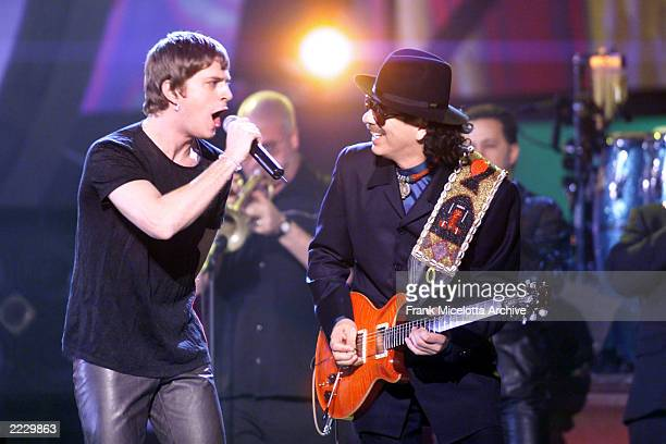 Santana and Rob Thomas performing live at the Grammy Awards 2000 in Los Angeles.Photo by Frank Micelotta/ImageDirect.