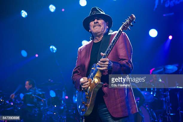 Santana performs at Stravinski auditorium on July 14 2016 in Montreux Switzerland