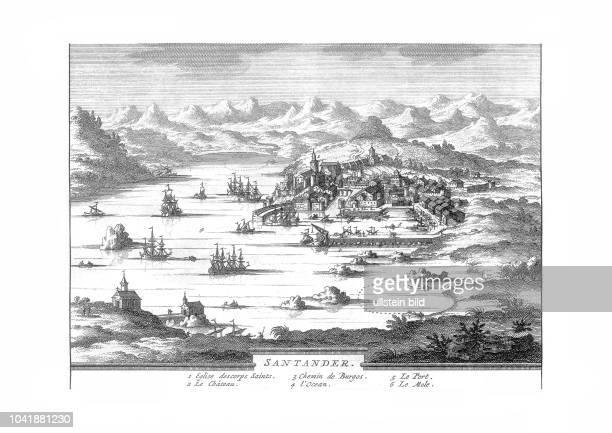 Santander 1707 Ansicht von Pedro Alvarez de Colmenar Burgos 1707