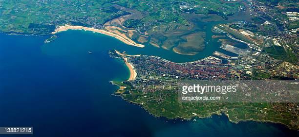 Santander aerial view