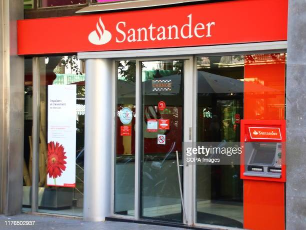 Santander bank branch seen in Paseo de Gracia.