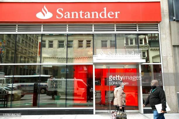 Santander Bank is seen in Midtown.