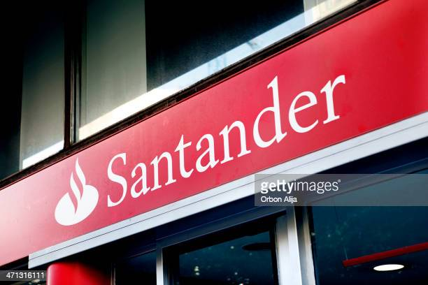 Banco Santander ストックフォト...