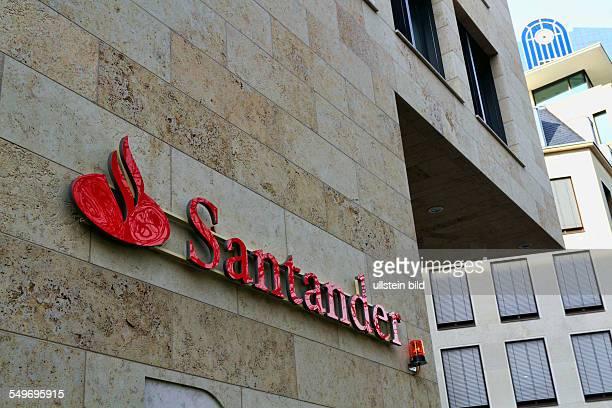 Santander bank sign and logo Frankfurt am Main Germany